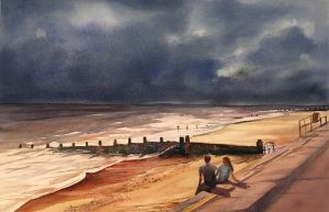 Sitting on the Promenade, Southwold